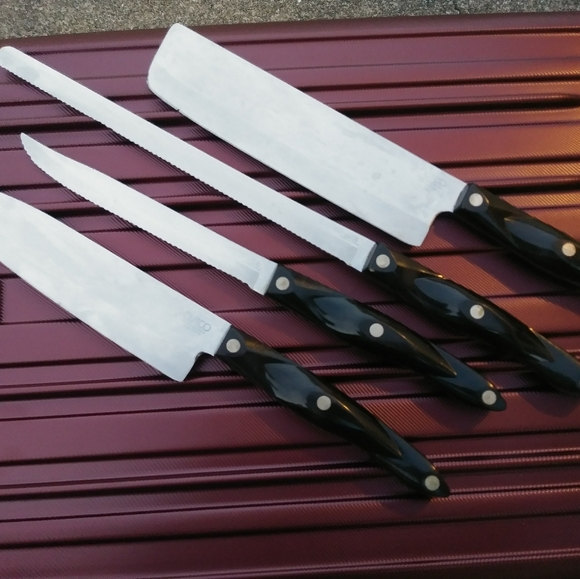 Cutco Kitchen 3 Piece Cutco Cutlery Knife Set Poshmark